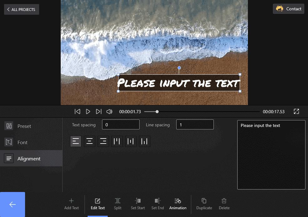 Set Text Alignment