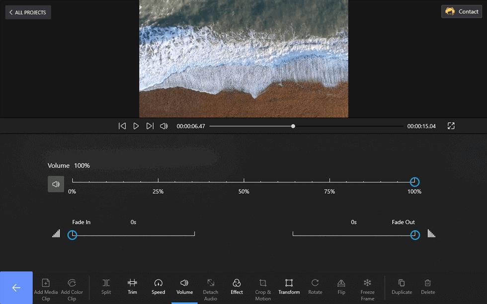 Changing Video Volume