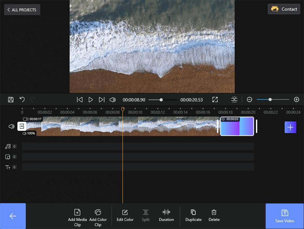Edit Color Clip