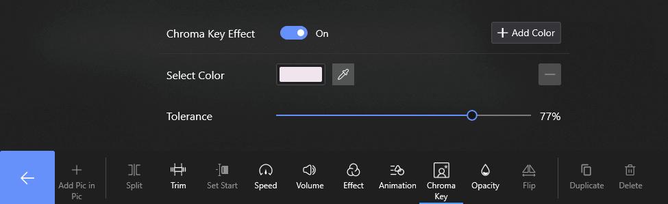 Eable Chroma Key Effect on FilmForth