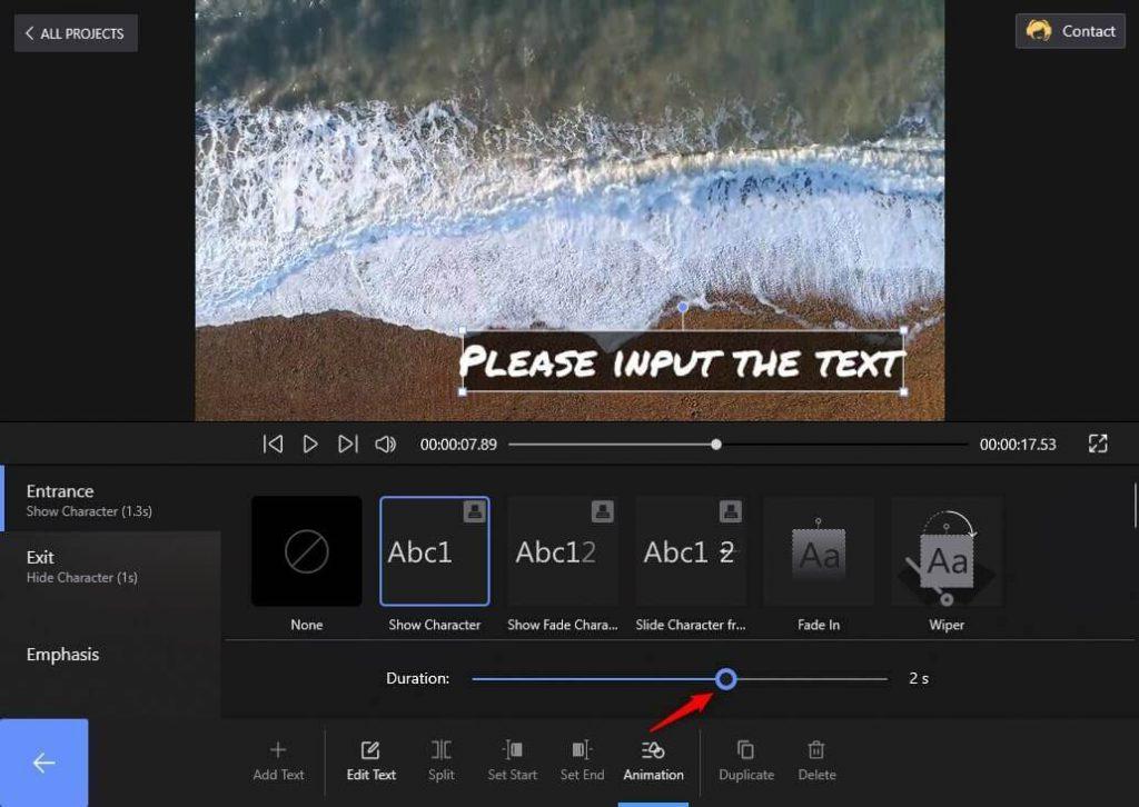 Set Animation Duration on FilmForth