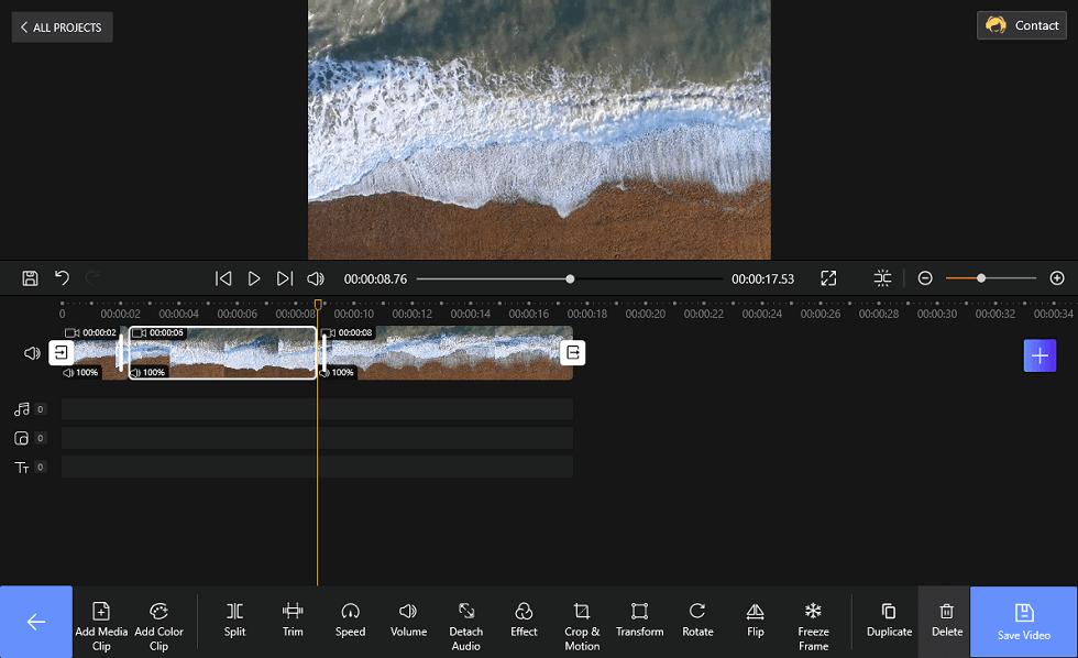 Split Video via FilmForth
