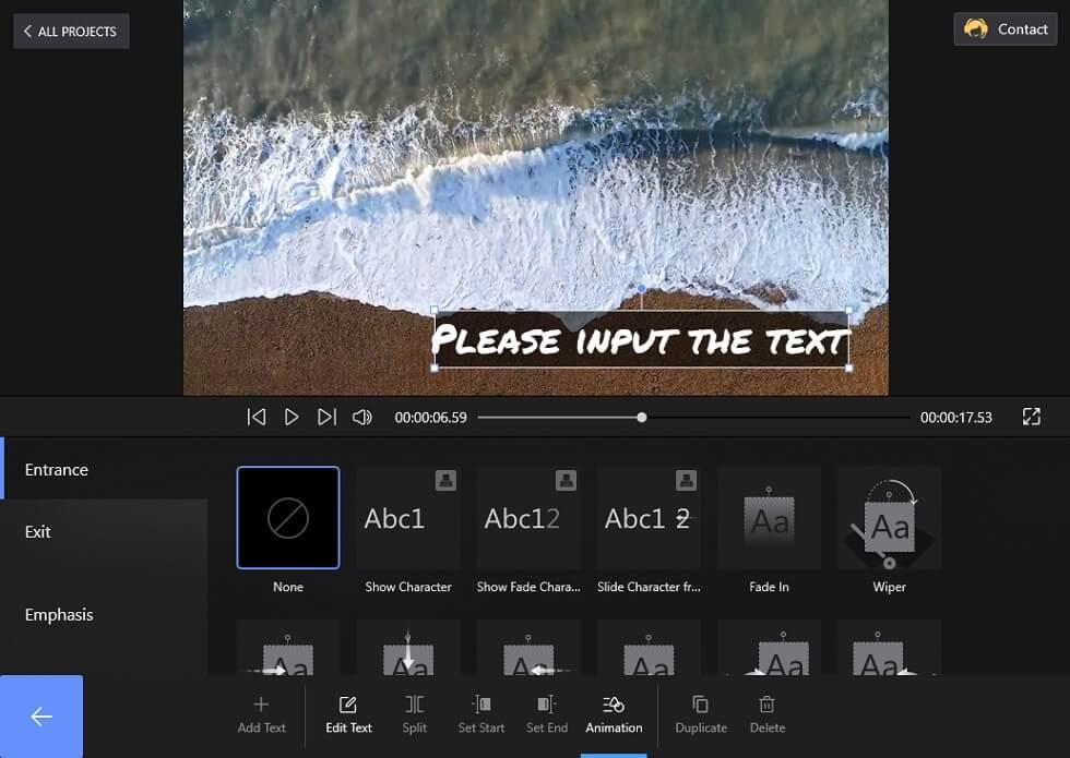 FilmForth Text Animation