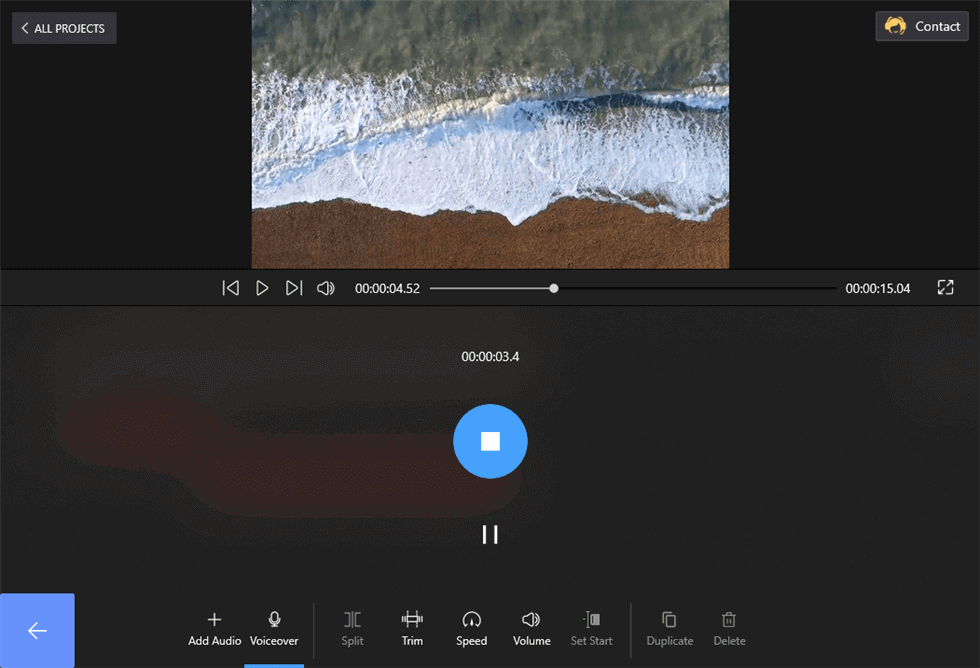 Start to Record Audio to the Video