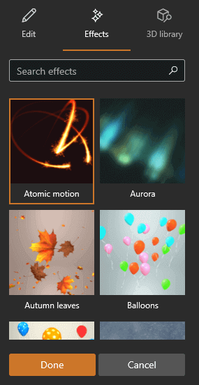 3D Effects and Animations