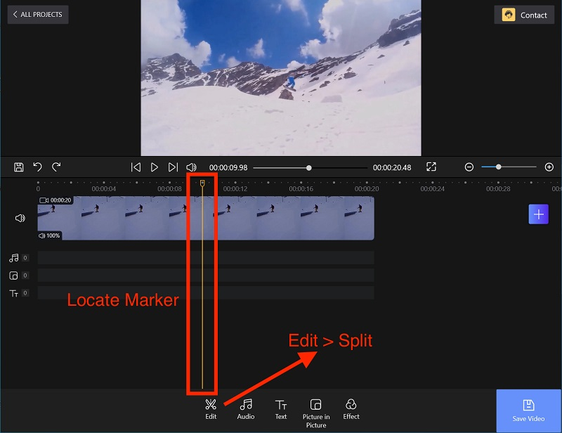 Position Marker and Split