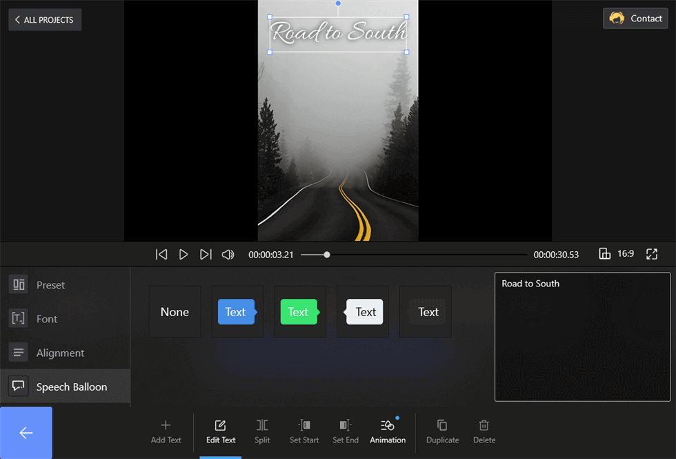 Add Text to Slideshow for Free