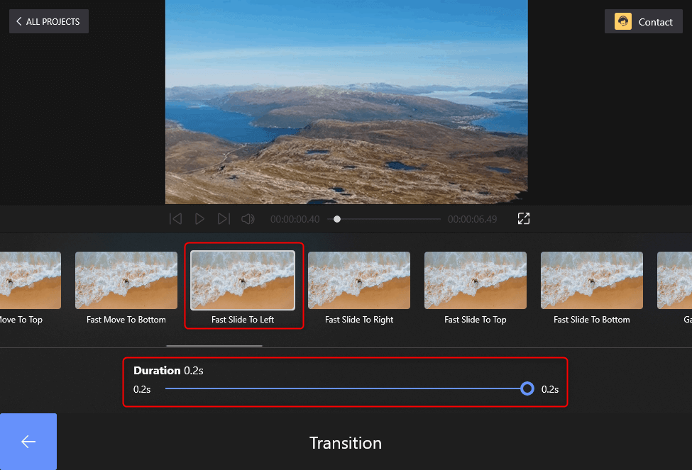Choose the Transition Effects You Want on FilmForth