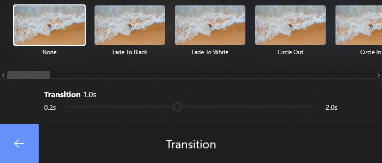 Select Transition