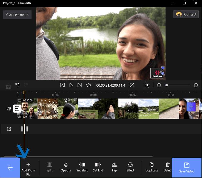 "Click ""Add Pic in Pic"""