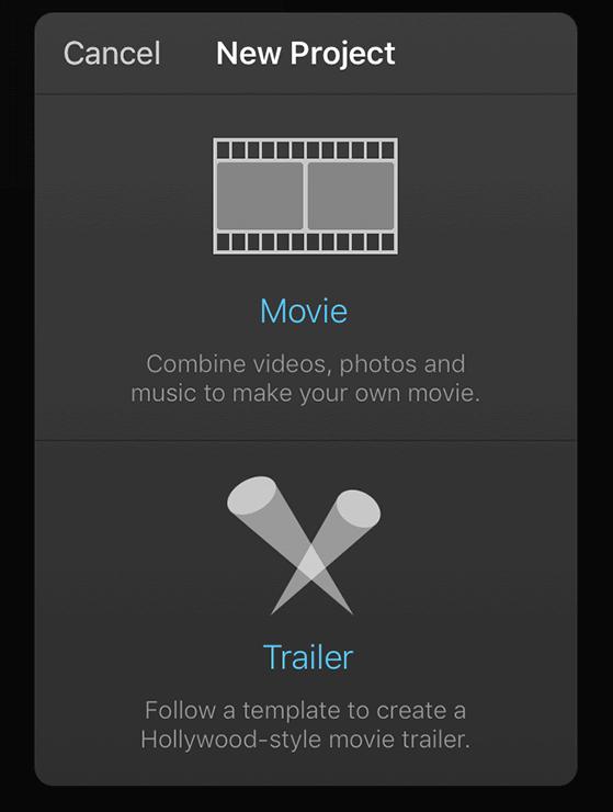 "Select ""Movie"" Option"