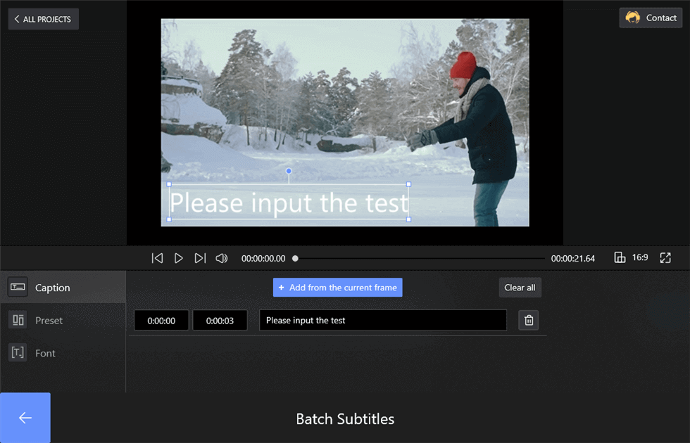Add Subtitles by Clicking the Add Button