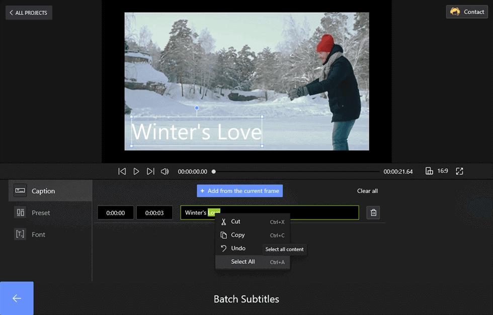 Set the Titles on FilmForth