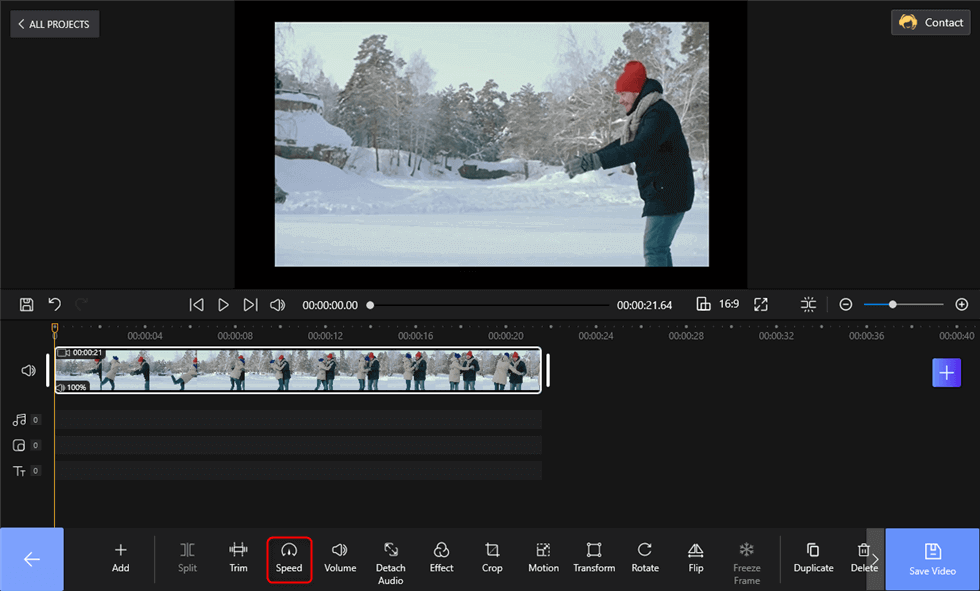 Change the Video Speed on FilmForth