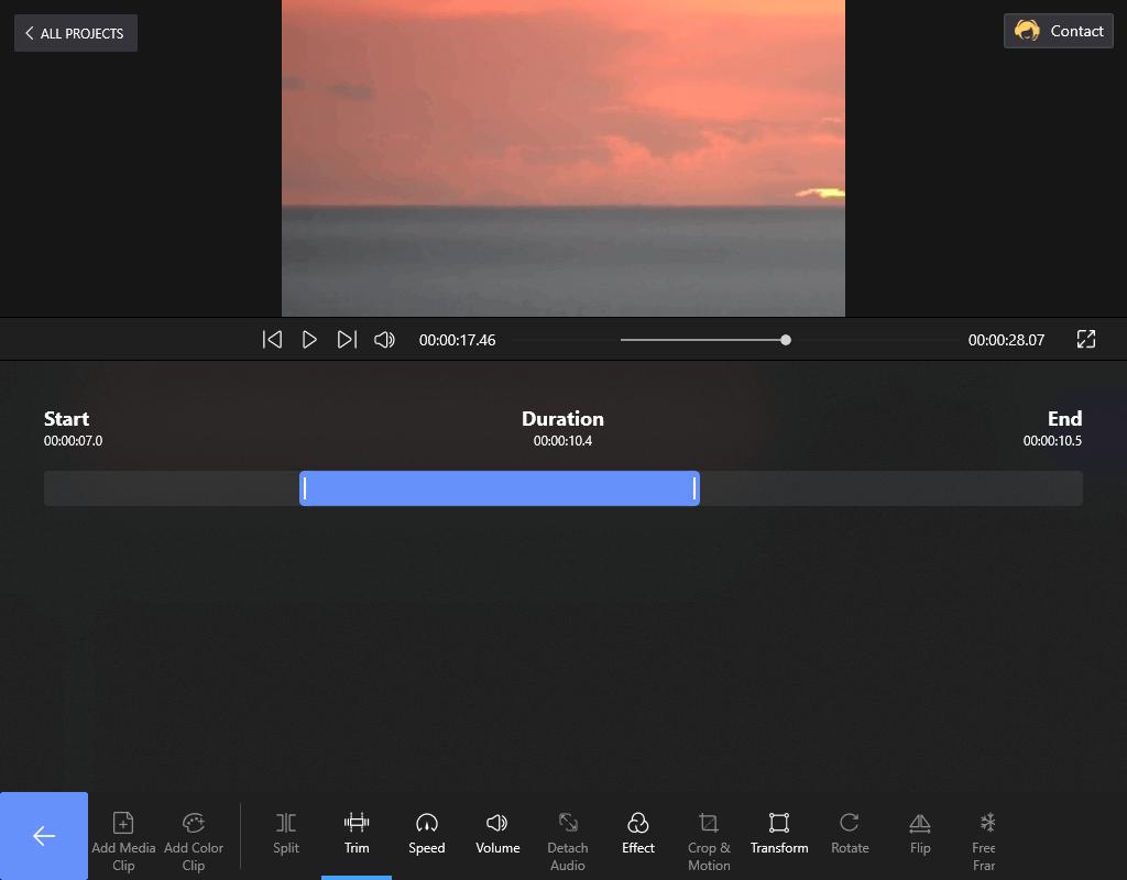 Trim the Video Length