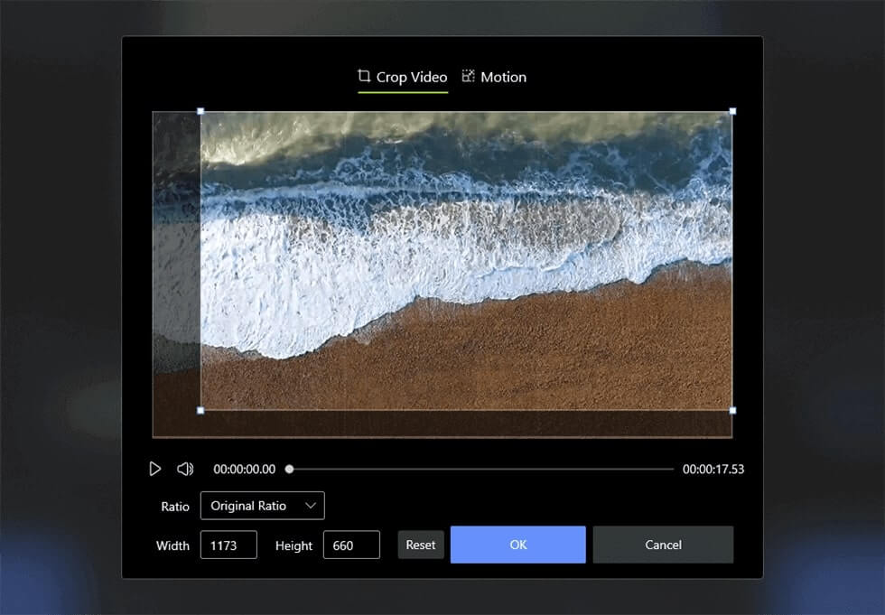 Crop the Video on Windows 10