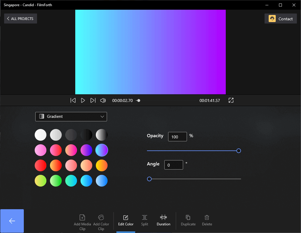 Change the Color of the Clip