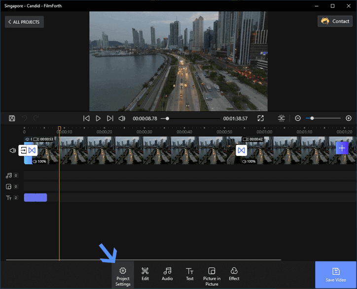 Add Transitions to A Video