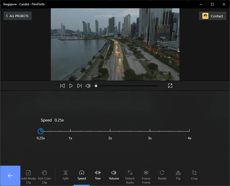 Click Speed to Change Video Speed