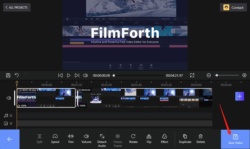 Save Video on FilmForth