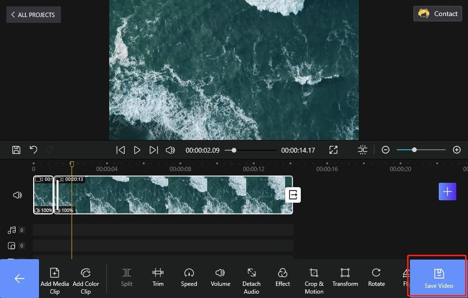 Save and Export the Video