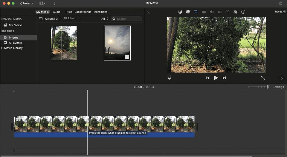 Using iMovie to Edit Video