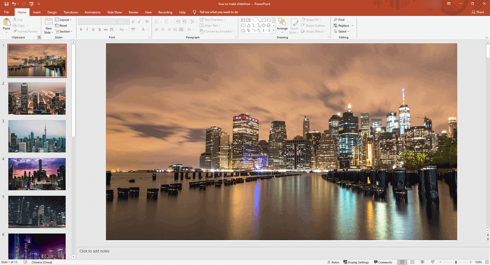 Import the Clips to PowerPoint