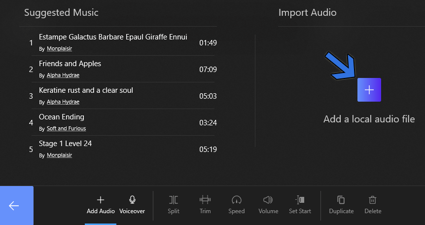 Add a Local Audio File