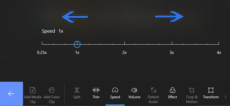 Change Video Speed on FilmForth