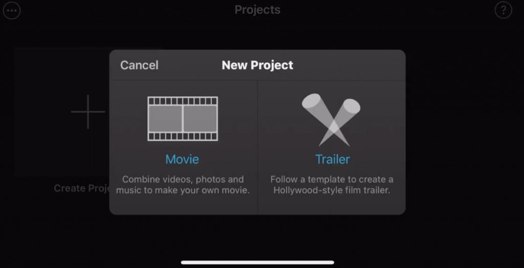 Select Movie Option