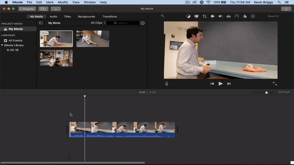Mac Slideshow Maker - iMovie