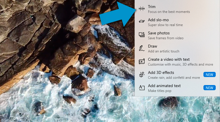 How to Trim Videos in Windows 10