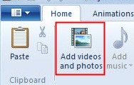 Add Videos to Windows Movie Maker