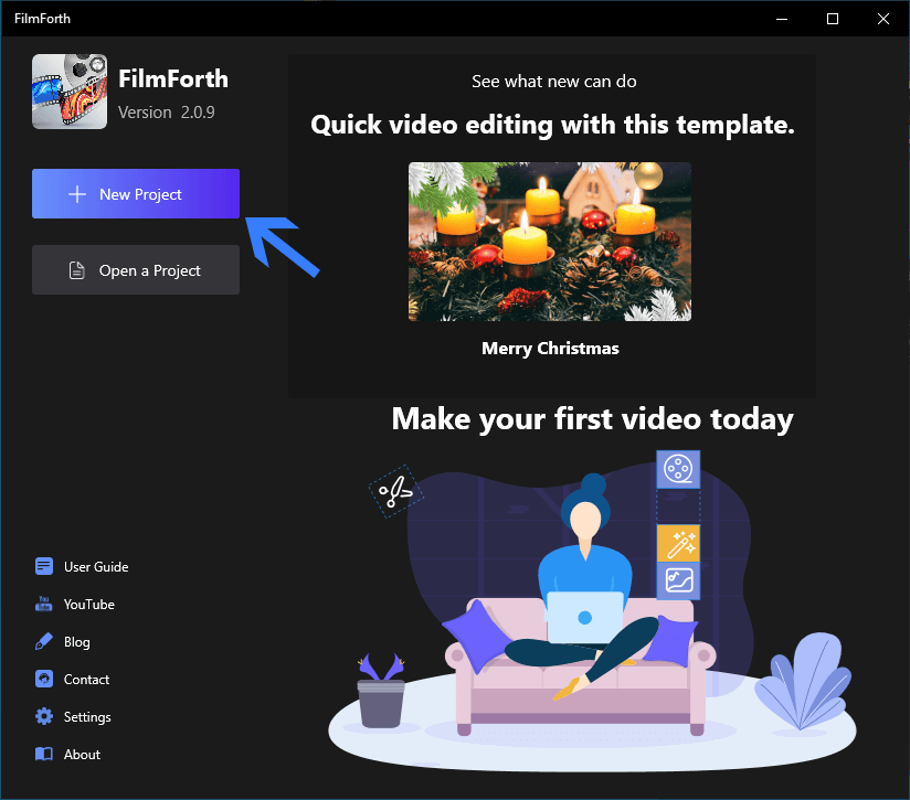 Create New Project with FilmForth