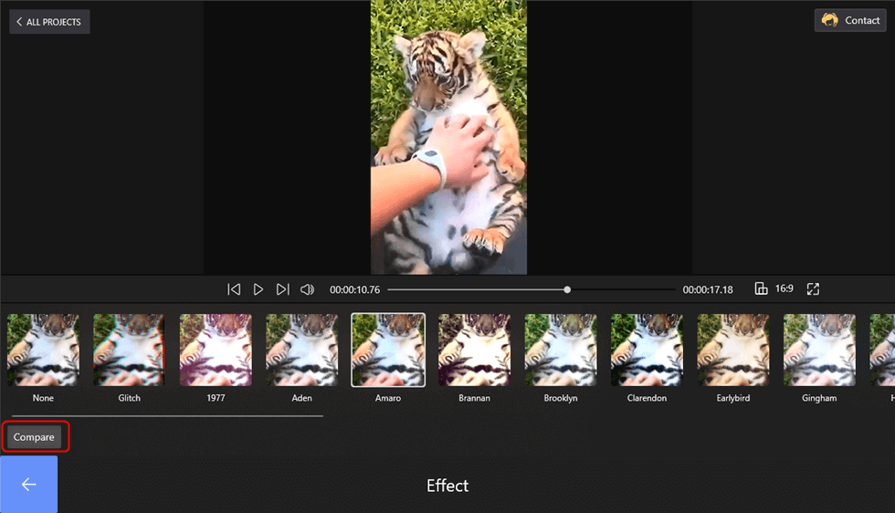 Apply Effect to Video on FilmForth