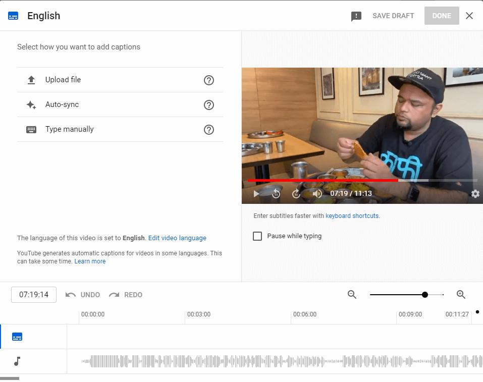 Subtitles Adding Menu
